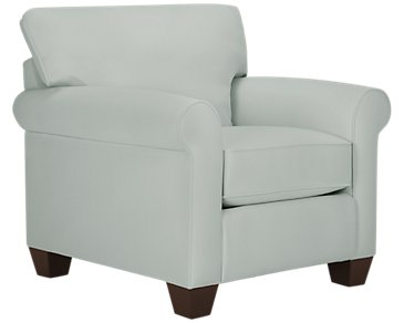 Corlis Light Blue Fabric Chair