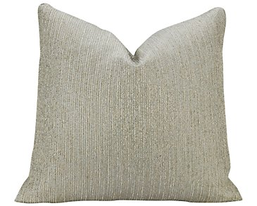 Splatch Light Blue Fabric Square Accent Pillow