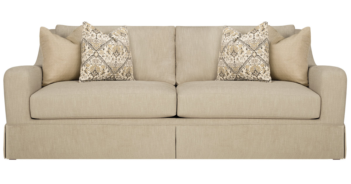 City Furniture Hallie Beige Fabric Sofa