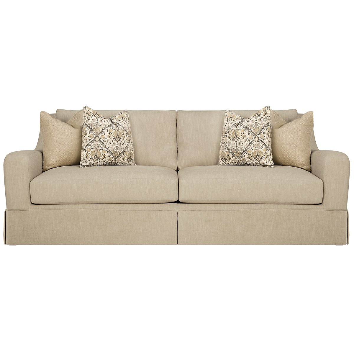 Hallie Beige Fabric Sofa