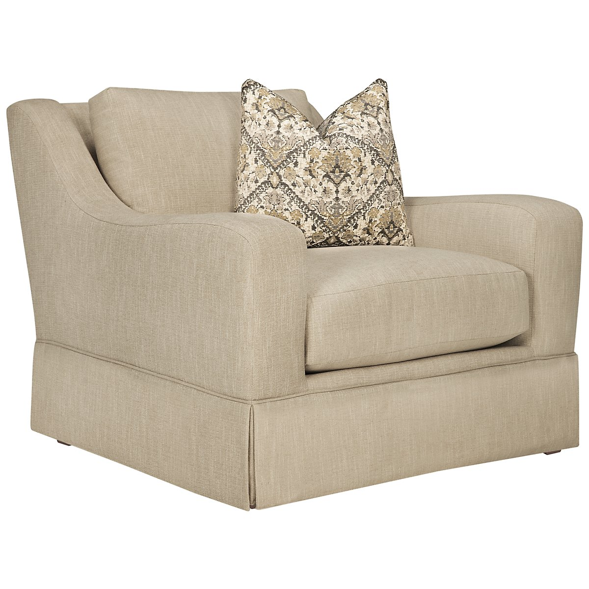 Hallie Beige Fabric Chair