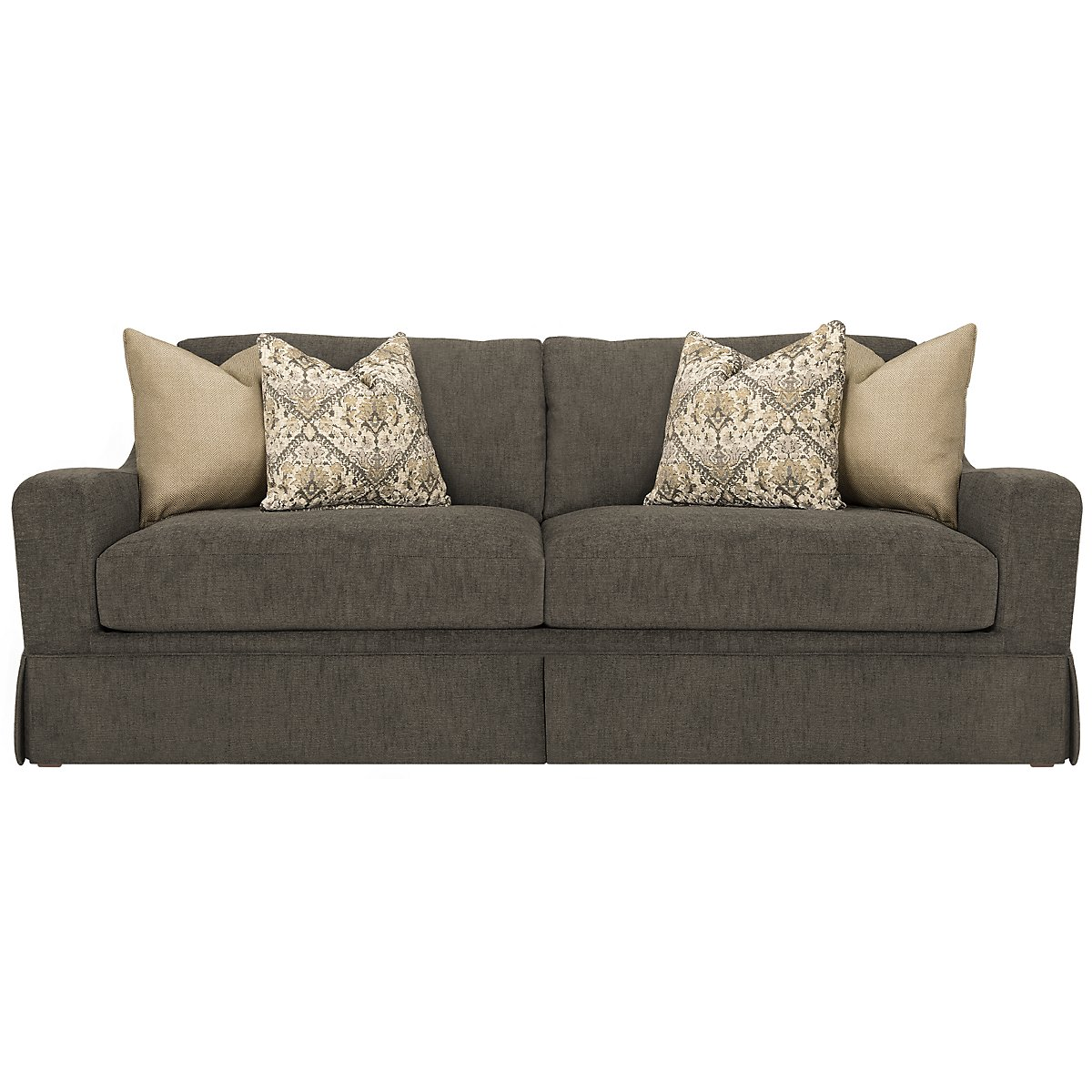 city furniture hallie dk gray fabric sofa