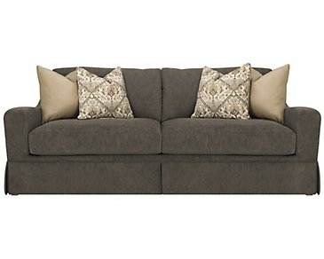 Hallie Dark Gray Fabric Sofa