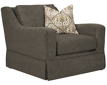 Hallie Dark Gray Fabric Chair
