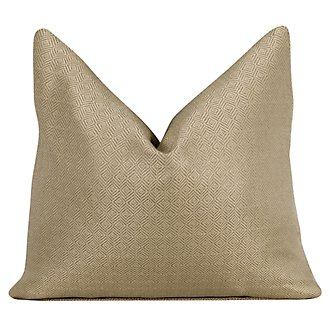Hallie Gold Fabric Square Accent Pillow