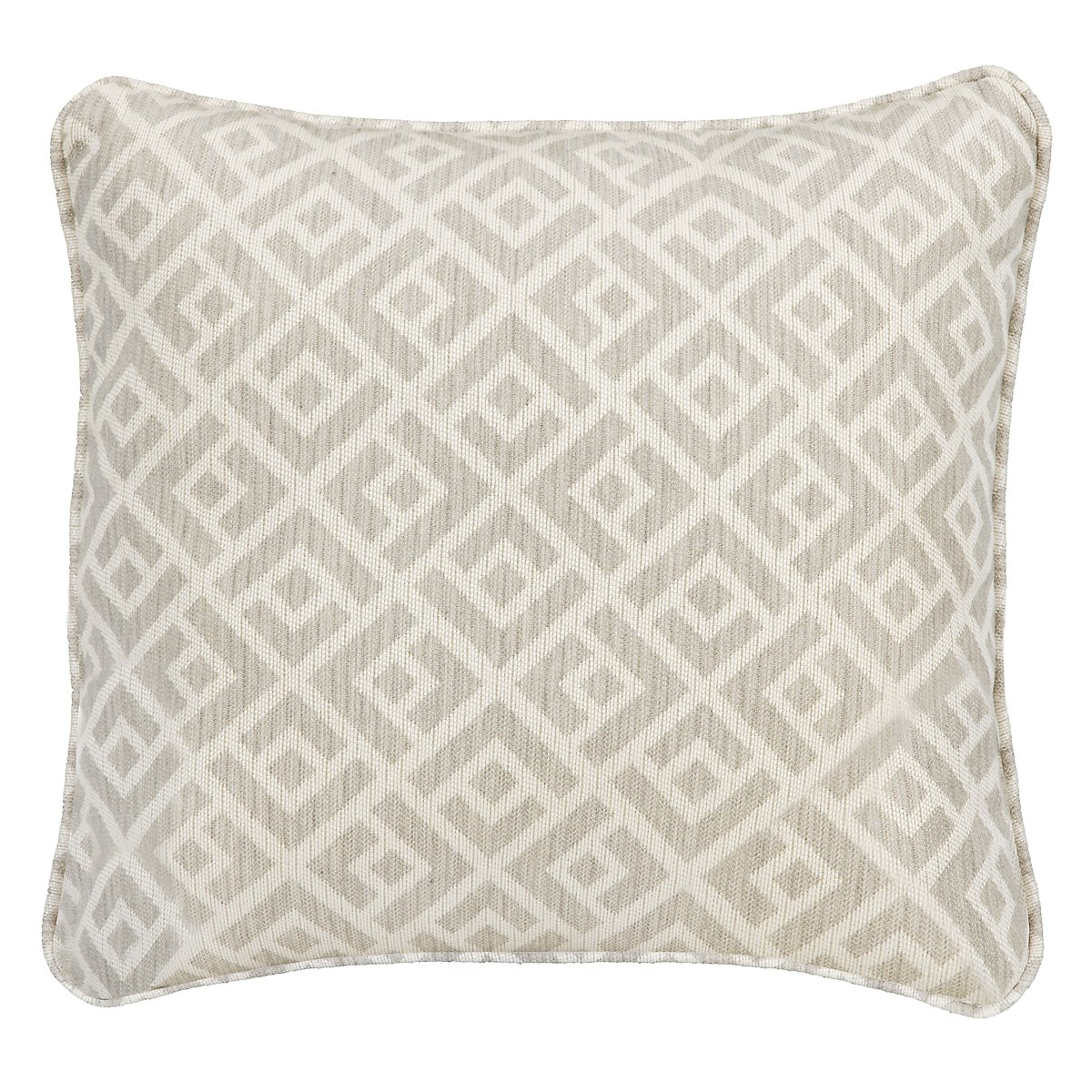 "Chipper Light Gray 18"" Indoor/Outdoor Accent Pillow"