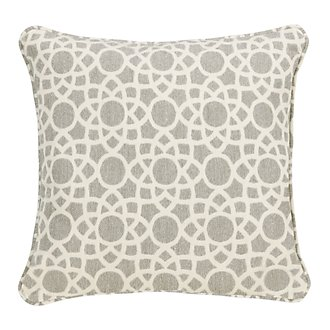 "Sophisticate Light Gray 18"" Indoor/Outdoor Accent Pillow"