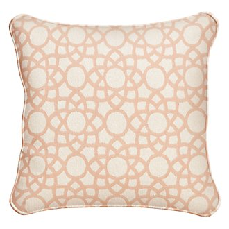 "Sophisticate Light Orange 18"" Indoor/Outdoor Accent Pillow"