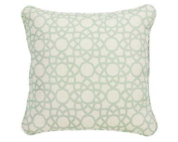 "Sophisticate Light Green 18"" Indoor/Outdoor Accent Pillow"