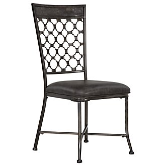 Brescello Dk Gray Side Chair