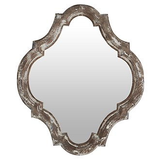 Sealy Wood Mirror
