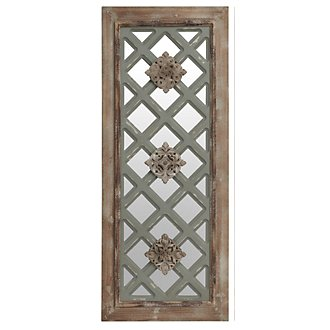Meagan Mirrored Wood Wall Art