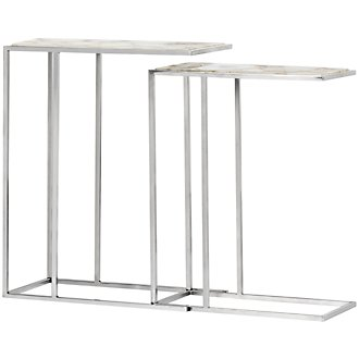 Agate White Set Of 2 Nesting Tables