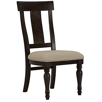 Sterling Dark Tone Wood Side Chair