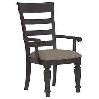 Emerson Gray Wood Arm Chair