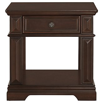 Emerson Dark Tone Rectangular End Table