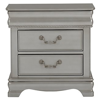 Jessica Silver Nightstand