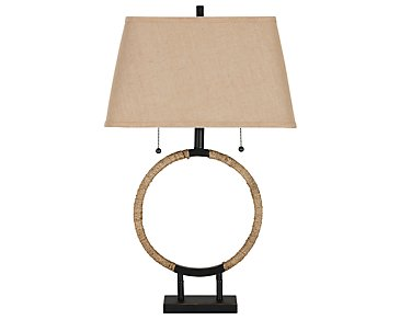 Zenity Light Beige Table Lamp
