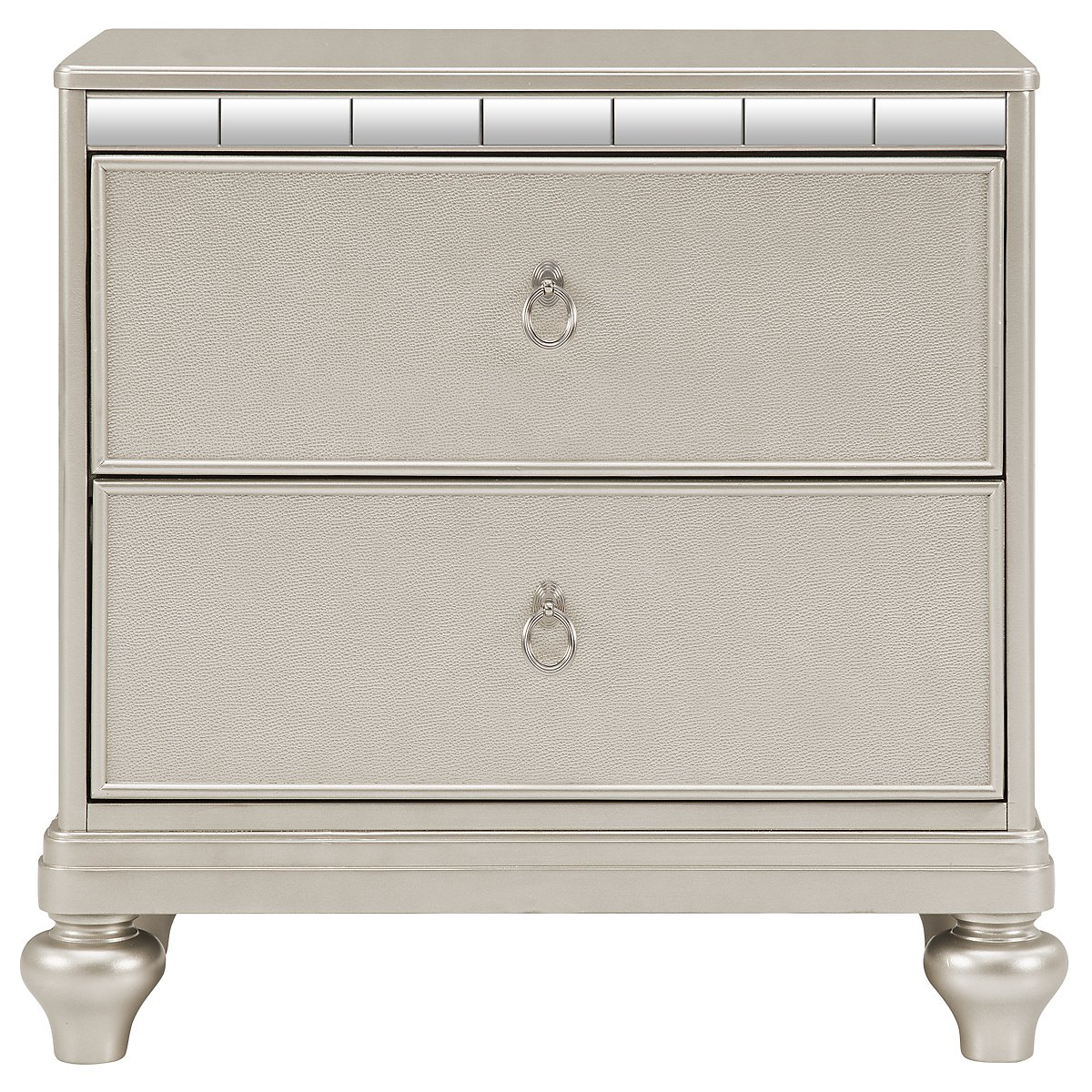 Belle Silver Nightstand