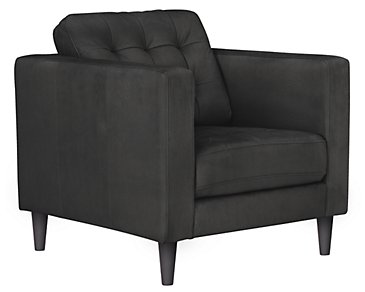 Shae Dark Gray Microfiber Chair