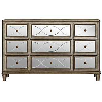 Giselle Silver Mirrored Dresser