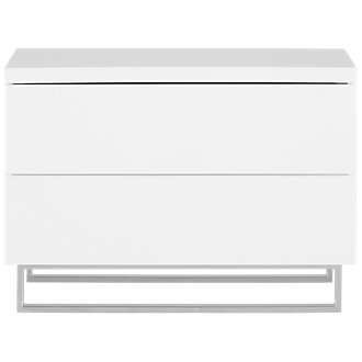 Brickell White Drawer Nightstand
