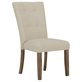 Emmett White Upholstered Side Chair