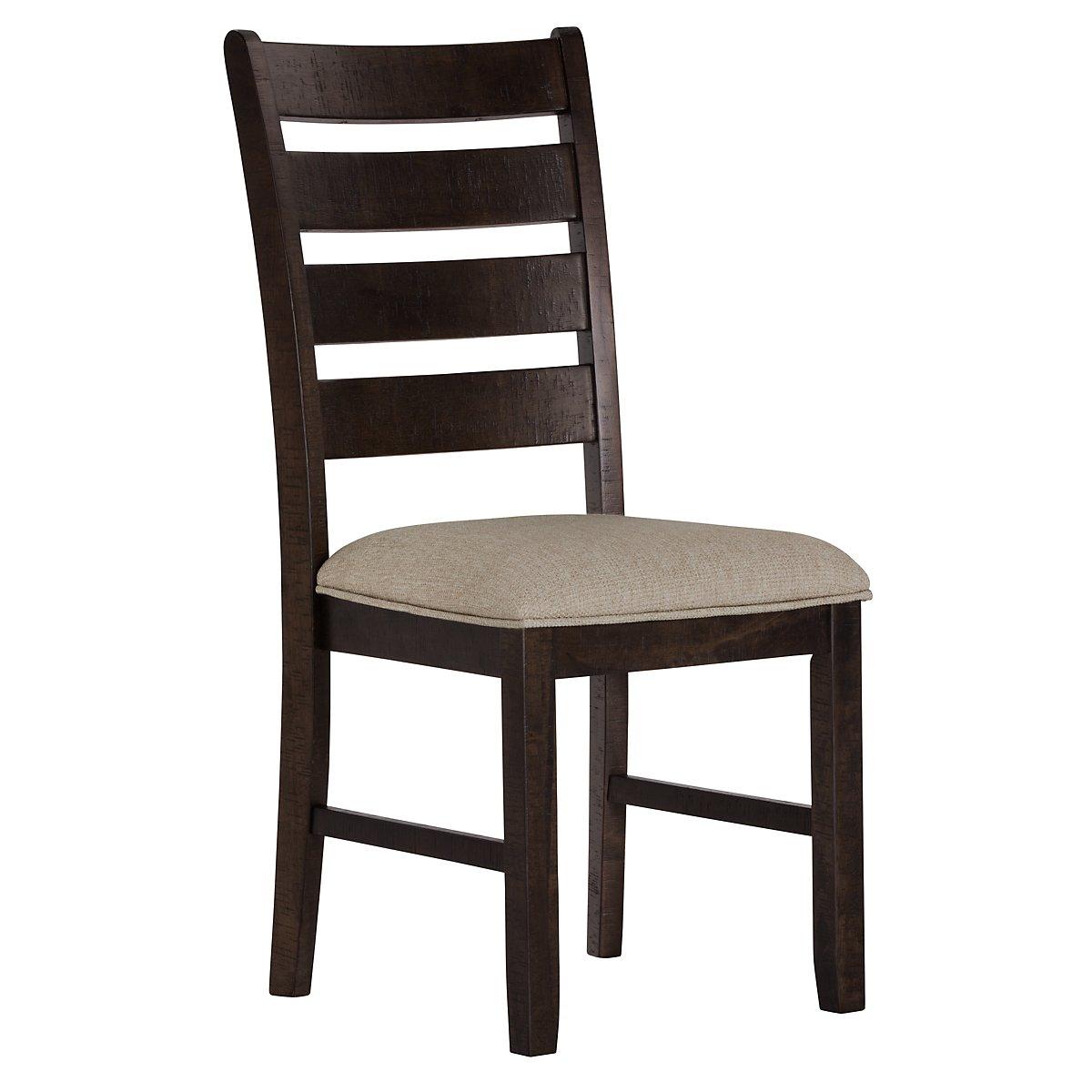 City furniture sawyer dark tone wood side chair for Dining chairs dark wood