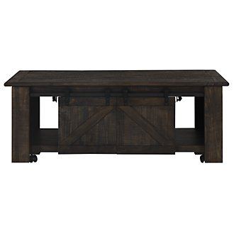 Garrett Dark Tone Castored Lift Coffee Table