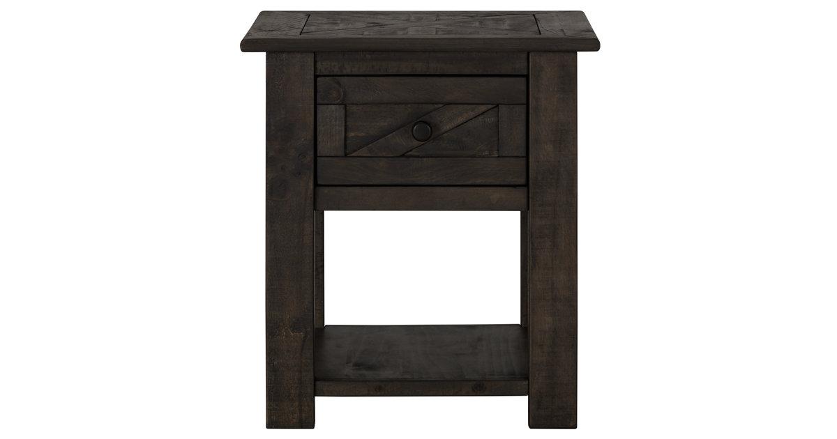 City Furniture Garrett Dark Tone Storage End Table