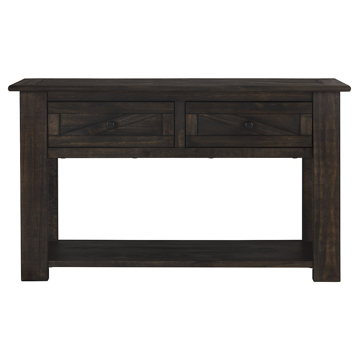 City furniture garrett dark tone storage sofa table Console tables with storage