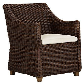 Canyon3 Dark Brown Woven Arm Chair