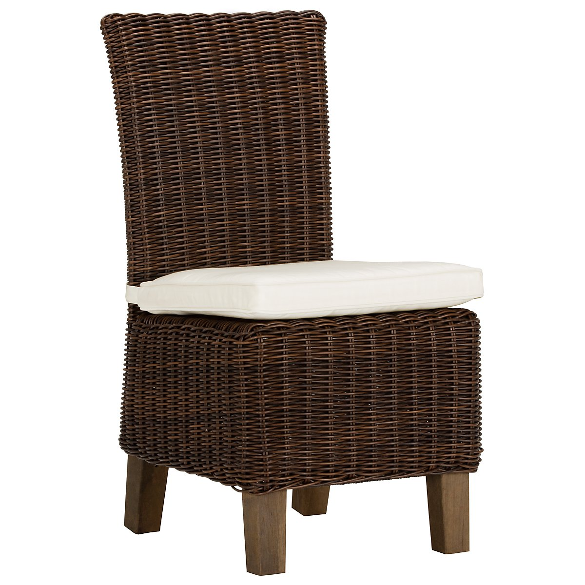 Canyon3 Dark Brown Woven Side Chair