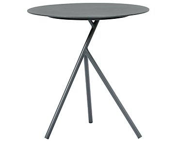 Ibiza Dark Gray Low Accent Table