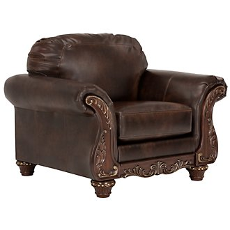 Irwindale Dark Brown Bonded Leather Chair