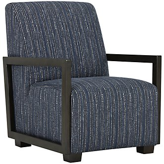 Kendleton Dark Blue Microfiber Accent Chair