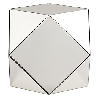 Hexagon Mirrored Small Accent Table