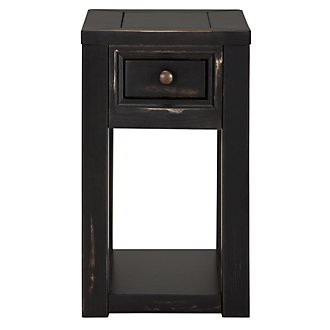 Cabo Dark Tone Rectangular Chairside Table