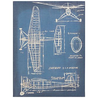Airplanes Blue Framed Wall Art