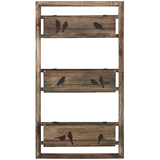 Birds Wood Wall Shelf