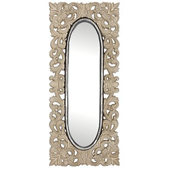 Sia Light Gray Wood Mirror