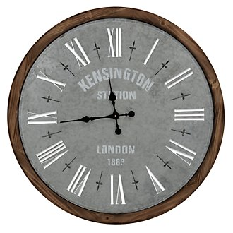 Oscar Light Green Wood Wall Clock