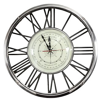 Duke Silver Wall Clock