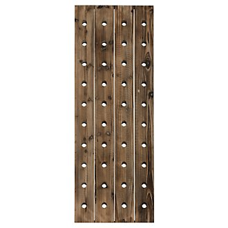 Miri Wood Rectangular Hanging Wine Rack