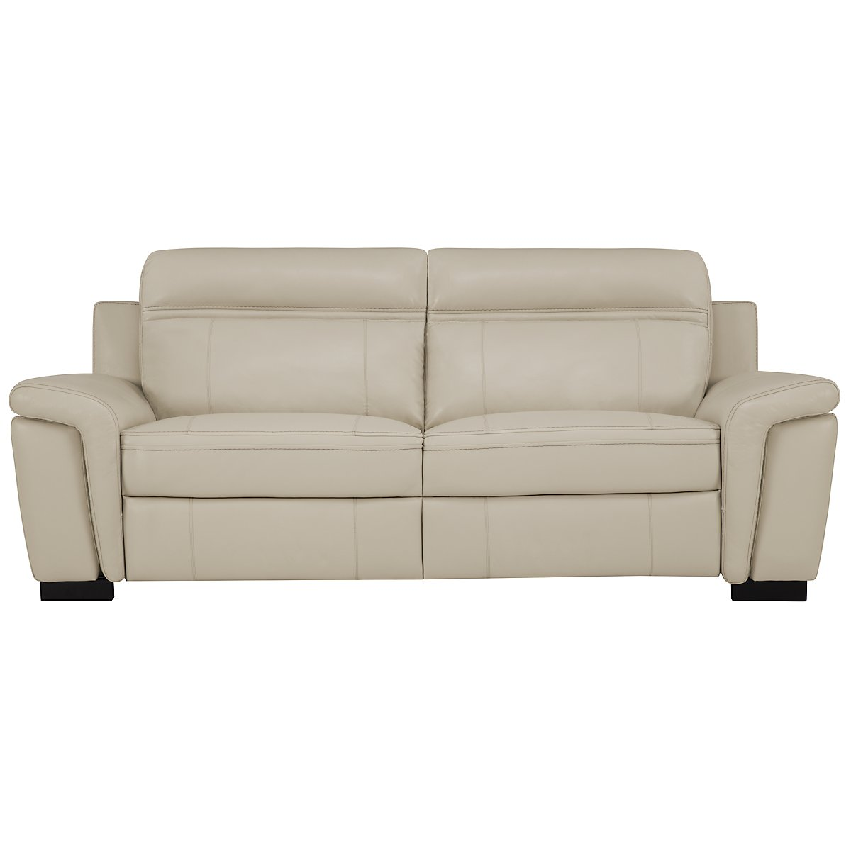 Albany Lt Gray Leather & Vinyl Reclining Sofa