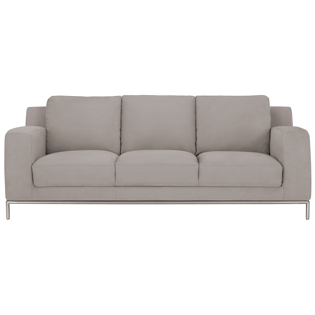 City furniture wynn lt gray microfiber sofa for Microfiber sectional sofa