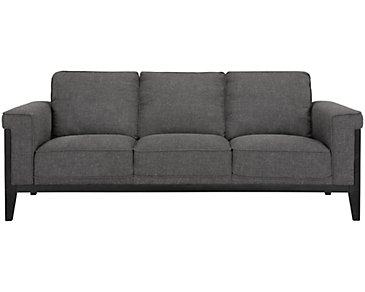 Harlan Dark Gray Fabric Sofa