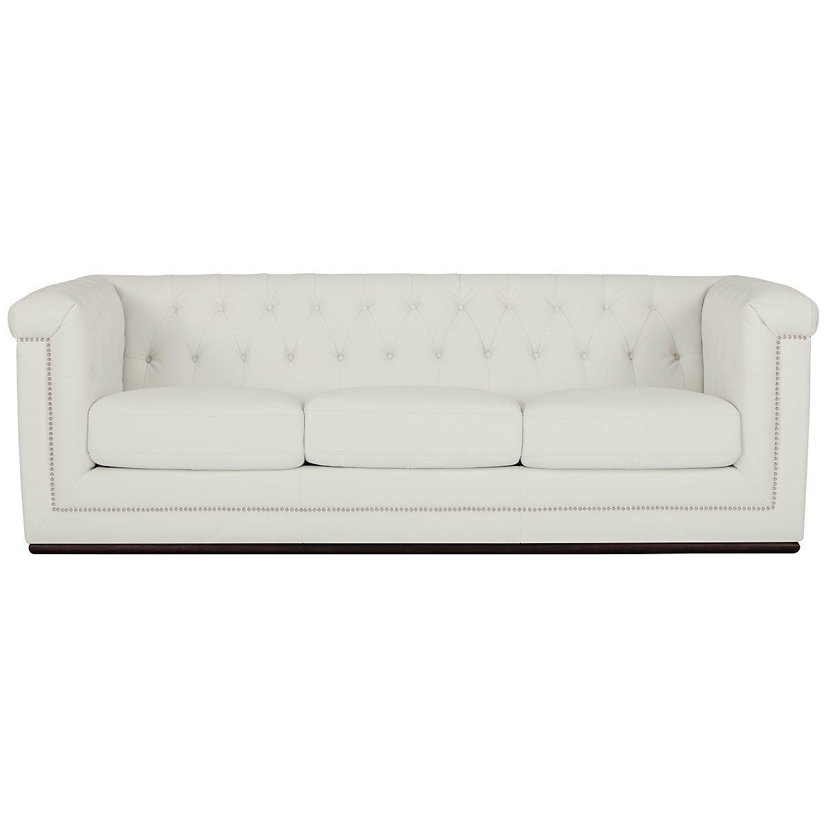 City Furniture Blair White Microfiber Sofa