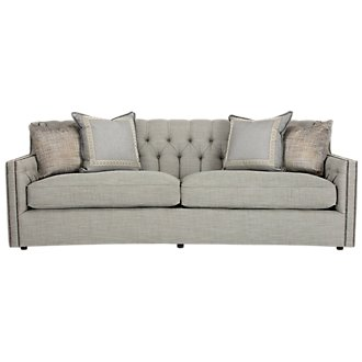 Candace Lt Blue Fabric Sofa