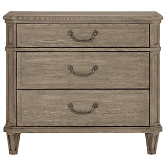 Marquesa Gray Wood Nightstand